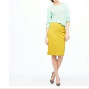 J. Crew Yellow No.2 Pencil Skirt sz 00